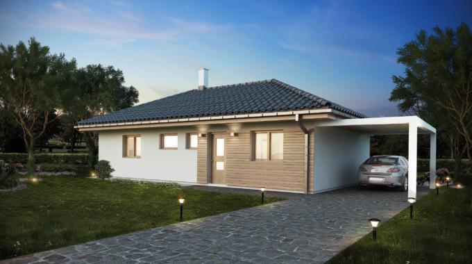 Nízkoenergetický rodinný dům na klíč Dream / Příjezdová cesta