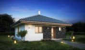 Nízkoenergetický rodinný dům na klíč Country / Přední pohled