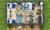 Nízkoenergetický rodinný dům na klíč Aria / Půdorys