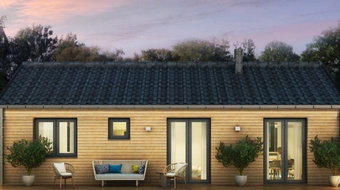Nízkoenergetický rodinný dům na klíč Aria / Zadní pohled