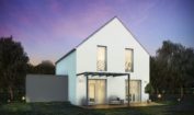 Nízkoenergetický rodinný dům na klíč Harmony / Přední pohled