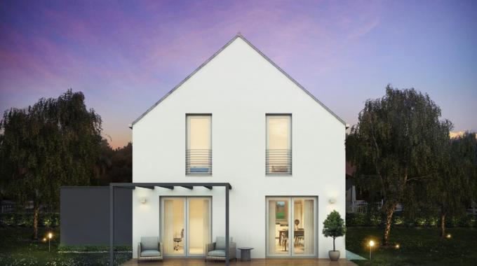 Nízkoenergetický rodinný dům na klíč Harmony / Zadní pohled