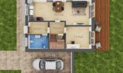 Nízkoenergetický rodinný dům na klíč Harmony / Půdorys - přízemí