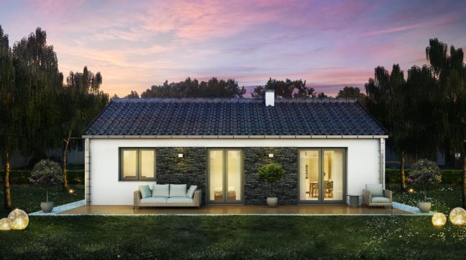 Nízkoenergetický rodinný dům na klíč Orion / Zadní pohled