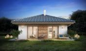 Nízkoenergetický rodinný dům na klíč Casa / Zadní pohled