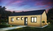 Nízkoenergetický rodinný dům na klíč Aria / Přední pohled
