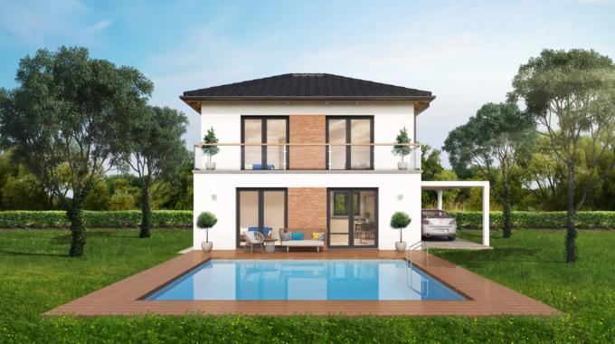 Nízkoenergetický rodinný dům na klíč Dream / Zadní pohled