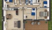Nízkoenergetický rodinný dům na klíč Laguna / Půdorys 5 + Kk