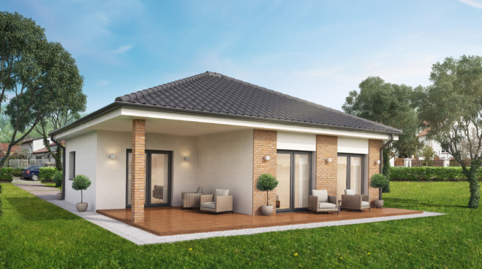 Nízkoenergetický rodinný dům na klíč Premium / Zadní pohled