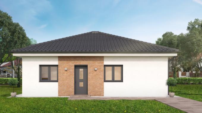 Nízkoenergetický rodinný dům na klíč Premium / Přední pohled