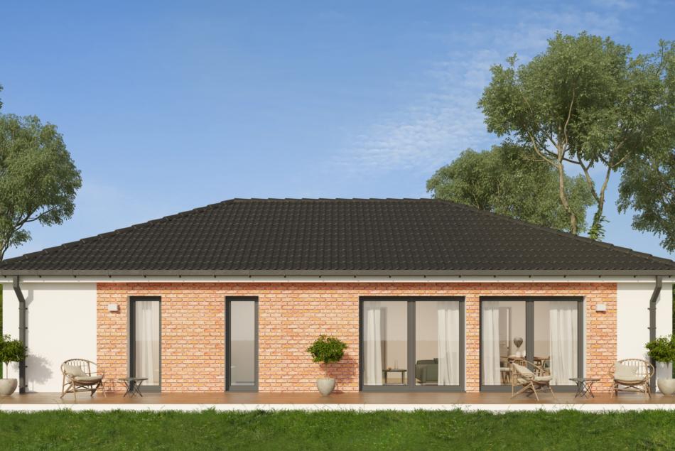 Nízkoenergetický rodinný dům na klíč Astra / Zadní pohled