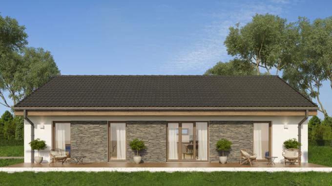 Nízkoenergetický rodinný dům na klíč Fortuna / Zadní pohled