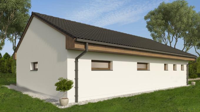 Nízkoenergetický rodinný dům na klíč Fortuna / Přední pohled