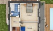 Nízkoenergetický rodinný dům na klíč Panorama / Půdorys - 1. patro