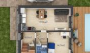 Nízkoenergetický rodinný dům na klíč Panorama / Půdorys - Přízemí