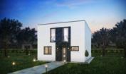 Nízkoenergetický rodinný dům na klíč Exclusive / Přední pohled - Verze s plochou střechou