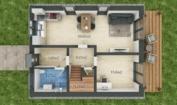 Nízkoenergetický rodinný dům na klíč Exclusive / Půdorys - Přízemí
