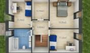 Nízkoenergetický rodinný dům na klíč Exclusive / Půdorys - 1. patro