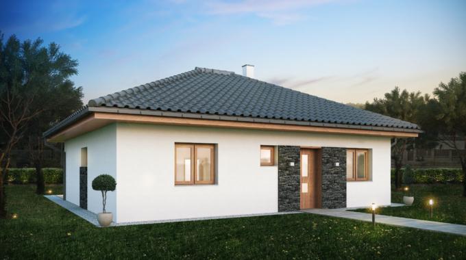 Nízkoenergetický rodinný dům na klíč Haven / Přední pohled