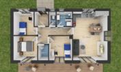 Nízkoenergetický rodinný dům na klíč Dream Plus / Půdorys