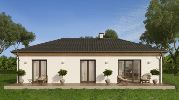 Nízkoenergetický rodinný dům na klíč Dream Plus / Zadní pohled