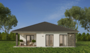Nízkoenergetický rodinný dům na klíč Premium Plus / Zadní pohled
