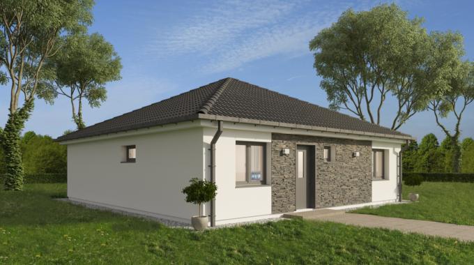 Nízkoenergetický rodinný dům na klíč Premium Plus / Přední pohled
