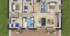 Nízkoenergetický rodinný dům na klíč Astra / Půdorys