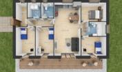 Nízkoenergetický rodinný dům na klíč Fortuna / Půdorys