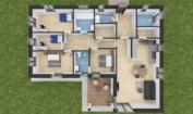 Nízkoenergetický rodinný dům na klíč Gala / Půdorys 5 + Kk